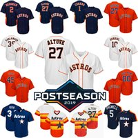 2019 Postseason Houston Custom Astros Jersey Jose Altuve Ale...