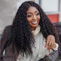 moda feminina penteado Africano Ameri cabelo brasileiro afro longo crespo peruca encaracolado Simulação cabelo humano crespo peruca encaracolado