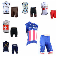 4a02ea615 New Arrival. AG2R Aqua Blue team Cycling Sleeveless jersey Vest shorts sets  quick dry men and riding shirts ...
