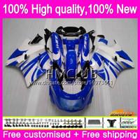 Cuerpo para Kawasaki ZX 11R ZZR1100 ZX11R 93 98 99 00 01 52HM.66 ZZR 1100 CC ZZR1100 ZX11R 1993 1998 1999 2000 2001 Kit Blanco Azul carenado