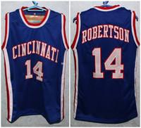 أوسكار روبرتسون # 14 سينسيناتي الرجعية جيرسي كلية الرجعية كرة السلة جيرسي رجل مخيط رقم مخصص اسم الفانيلة