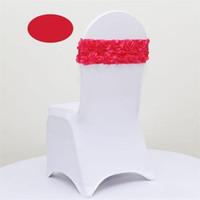Son Elastik 3D Rose Petal Çiçek Düğün Sandalye Kapak kanatlar Kanat Parti Ziyafet Süsleme Dekor çok renkli