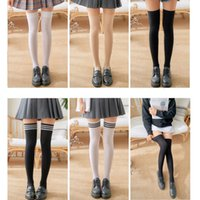 Girls Student School Socks Fashion Stockings Casual Thigh Hi...