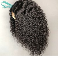 Lace Front Human Hair Wigs Deep Curly Pre Plucked Peruvian R...