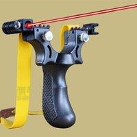 새총을 목표로 레이저 레벨 악기 야외 스포츠 사냥이 높은 전원 새총 투석기를 사용하여 장착