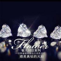 محظوظ حديثا مجوهرات فاخرة وصول متألقة 925 Stelring قطرة الفضة الماء الأبيض توباز CZ الماس الأحجار الكريمة المرأة الزفاف مربط القرط هدية