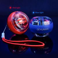 Wyposażenie domu LED Nadgarstek Ball Super Gyroscope Powerball Samokuprawny Słucha Gyro Siła Ramię Trener Mięśni Relax Gym Fitness