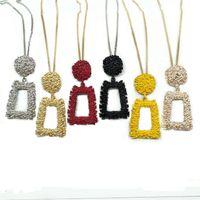 Anhänger Halsketten 2021 Frühling Sommer einfache geometrische Form Halskette für Frauen Gold Farbe Metall Lange Collier Femme Modeschmuck