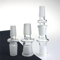 Adaptador de Bong de vidrio que fuma tubos de agua con 14 mm 18 mm macho hembra boca Mong Bong adaptadores Adaptador de vidrio convertidor