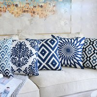 Classical Style Embroidery Home Pillow Fashion Square Sofa P...