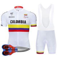 2020 برو فريق كولومبيا ركوب الدراجات جيرسي مجموعة MTB الموحدة دراجة الملابس ملابس Ciclismo دراجة الملابس رجل قصير مايوه Culotte W10