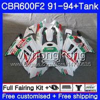 Cuerpo + Tanque para HONDA CBR 600F2 CBR600FS CBR600F2 91 92 93 94 288HM.30 CBR 600 F2 FS CBR600 F2 1991 1992 1993 1994 Kit de carga Castrol Green