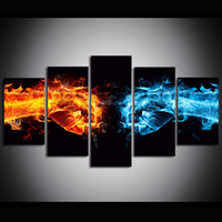 5 Piece Large Size Canvas Art Print Oil Painting Fist of Ice...