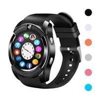 V8 블루투스 스마트 시계 iOS 아이폰 안드로이드에 대한 다기능 스마트 시계 화웨이 삼성 전화 메시지 푸시 동기화 Smartwatch