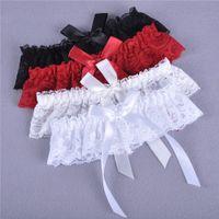 1pcs Sexy Wedding Party Mulheres Meninas Lace Floral bowknot Bridal Lingerie Cos Leg Garter Belt Suspender