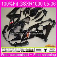 Cuerpo de inyección para SUZUKI GSX-R1000 GSXR 1000 05 06 Carrocería 11HM.6 GSXR1000 05 06 K5 GSX R1000 GSXR-1000 2005 2006 Negro Cool Top Carenado