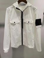 19SS neue Retro-Marke Herrenjacke Klassische gestickte Label auf den Ärmeln überdimensionale Hardware Reißverschluss Winddichtes Oxford-Gewebe outwear Hoodies