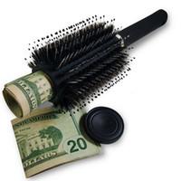 Ev Güvenlik Saklama kutusu XD22134 için Saç Fırçası tarak Hollow Konteyner Siyah Stash Güvenli Diversion Gizli Güvenlik Hairbrush Gizli Değerli