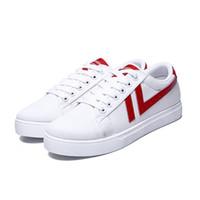 Clássico Homens Mulheres Sapatos casuais Moda Unissex Calçado preto branco vermelho caminhada ao ar livre sapatos Tamanho Flat 36-44