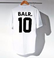 2019 tasarımcı Harf Baskı Gömlek Erkek T Shirt Balr Streetwear Kısa Sleeve Yuvarlak Yaka Gevşek Pamuk Erkek Te toptan