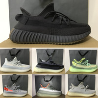 2020 Kanye West Shoes Cinder Yecheil Yeezreel ASRIEL Static Triple Black Reflective V2 стилист кроссовки Desert Sage Zebra кроссовки для бега