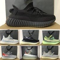 2020 Kanye West Shoes Cinder Yecheil Yeezreel Asriel Static الثلاثي الأسود العاكس V2 مصمم أحذية رياضية الصحراء حكيم زيبرا الاحذية