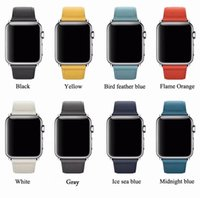 Fashion Pure Color Leather strap for apple watch series 4 3 ...