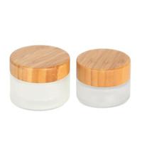 Nouveau pot de crème de la mode 30g 50g avec couvercle en bambou. Emballage cosmétique bouteilles avec couvercle en bois expédition rapide LX7246