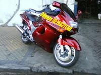 Kit carene moto per KAWASAKI Ninja ZZR1100 93 94 98 99 00 01 Carrozzeria ZX11 1993 2001 ZZR1100D Set carene rosse + 7 marce ZD88