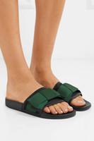 Herren und Damen Unisex Mode Baumwolle und Leder Ribbon Bow Flat Slides Sandalen mit altmodischem Gummifußbett