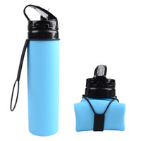 Collapsible Water Bottle Silicone Portable Travel Outdoor Wa...