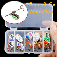 10pcs box Spinner Metal Baits & Lures 10 Color Mixed 6cm 3. 5...