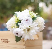 الأفريقي الاقحوان الكوبية حزمة الديكور المنزلي مقلد مصنع زهرة يده الزفاف عطلة زهرة الأوروبي الجدول زهرة FreW1154