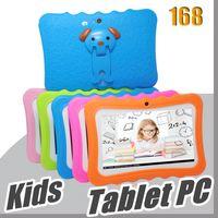 168 Kids Marque Tablette PC 7 pouces Quad Core Tablet Tablet Android 4.4 Allwinner A33 Google Player Wifi Big Haut-parleur Couvercle de protection L-7PB