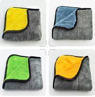 Auto reinigingshanddoek Super zachte microfiber absorberende handdoeken 45 * 38cm dikke was polijsten koraal fleece handdoeken zorgdoeken