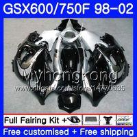 Body Black Silvery Hot für Suzuki Katana GSXF 600 750 GSXF750 98 99 00 01 02 292HM.12 GSX 750F 600F GSXF600 1998 1999 2000 2001 2002 Verkleidung