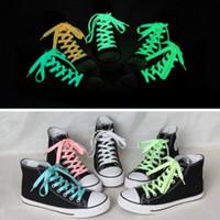 1 زوج شقة العاكس عداء الأحذية الأربطة سلامة مضيئة متوهجة الحذاء للجنسين للأحذية الرياضية كرة السلة قماش