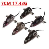 1pcs 7cm 17.43g ratón Pesca Ganchos anzuelos doble suave gancho cebos señuelos Pesca Caza y Pesca C-031