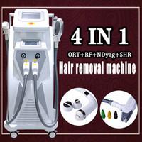 macchina di rimozione dei capelli del tatuaggio dell'elevatore del fronte di rf del laser di alta qualità ip elight opt shr rf e yag laser ipl CE