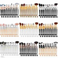 20Pcs Shell Makeup Brushes Set Power Foundation Eye Shadow C...