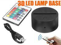 RGB светодиодные лампы подходит для 3D иллюзия лампа 4мм акриловый свет панели АА батареи или DC 5В USB в 3D ночь свет БДХ