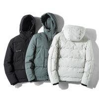 Bzoosio nueva moda caliente para hombre otoño invierno con capucha abrigos color coincidencia de colores versátil chaqueta caliente ligero de calidad superior de calidad abrigo F1