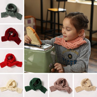 Baby Knit Scarf Korean INS Kids Candy Color Warm Crochet Scarves Outdoor Adult Winter Children Travel Shawl TTA1969-1