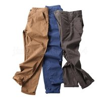 Men Solid Overall Pants 7 Colors Classic Full Cargo Pants Sp...