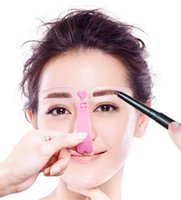 Nueva Salud 4 piezas reutilizables de cejas modelo de plantilla de la ceja de la talladora herramientas de maquillaje Definición de Plantillas