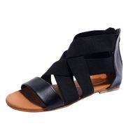 Hot Sale-MUQGEW Solid Black Fashion Frauen Flops Hausschuhe Strand-Sandelholz-Schuhe der neuen Ankunfts-# 1211