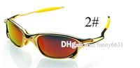 1 conjunto marca homem de metal polarizada óculos de sol + caso pano mulheres condução ao ar livre óculos de sol unisex óculos de praia óculos de ciclismo cor deslumbrante