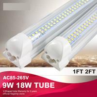 Tube LED intégré / lampe / de lumière en forme de U 18W 2FT T8 fluorescent AC85-265V haute qualité 60cm 25pcs usine de vente directe