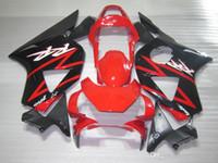 Set de carenados para Honda CBR900RR 2002 2003 CBR954 rojo negro carenado kit 02 03 CBR954RR CBR 954RR TT51