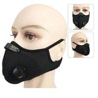 Ciclismo Máscara 5 cores PM2.5 filtro de poeira Máscara Carvão Ativado Com Filtro Anti-Poluição Rosto bicicleta Máscara OOA7790